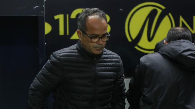 Álvaro Cervera, antes del partido.