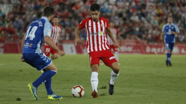 César de la Hoz, en un partido de esta temporada.