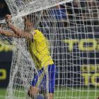Garrido celebra su gol ante el Mallorca.