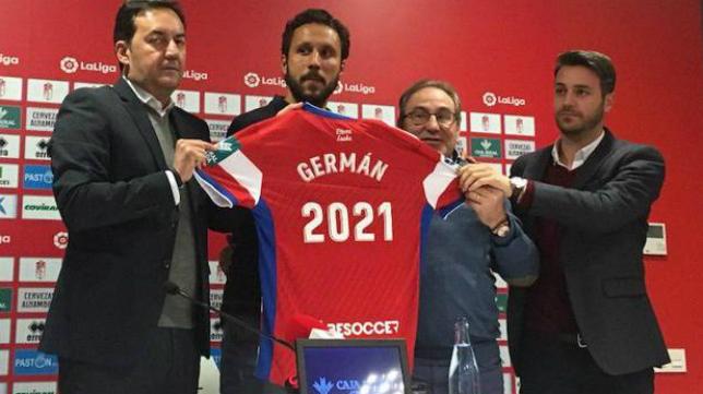 Germán seguirá en el Granada hasta, al menos, el 30 de junio de 2021. Foto: Ideal.