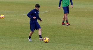 Jairo Izquierdo, en un entrenamiento.