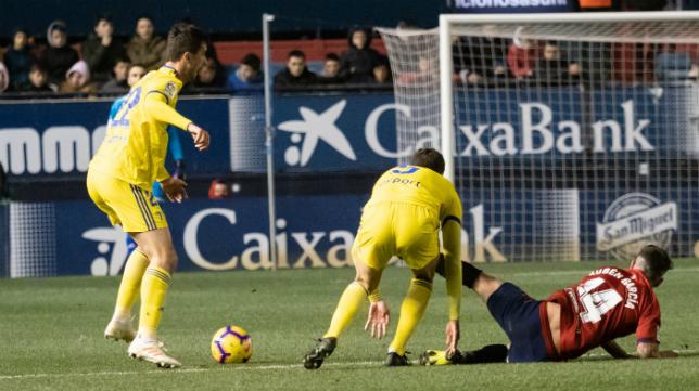 El Cádiz CF perdió a comienzos de año en Pamplona 2-1.