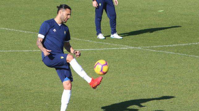 Sergio Sánchez, en un entrenamiento.