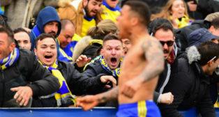 Machís celebra su gol en Alcorcón