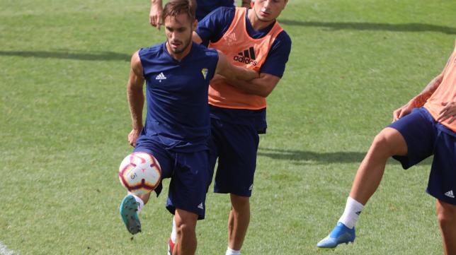 Correa, en un entrenamiento de esta temporada.