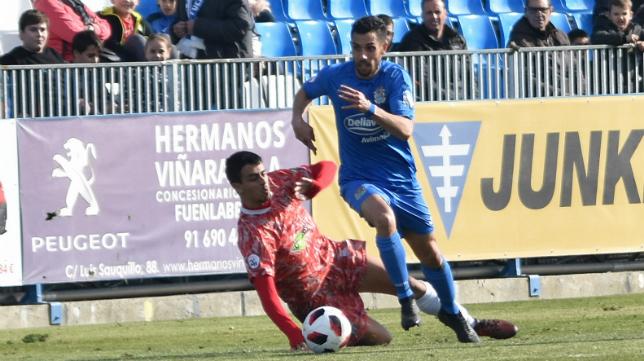 Carlos Caballero juega actualmente en el Fuenlabrada. Foto: CF Fuenlabrada.