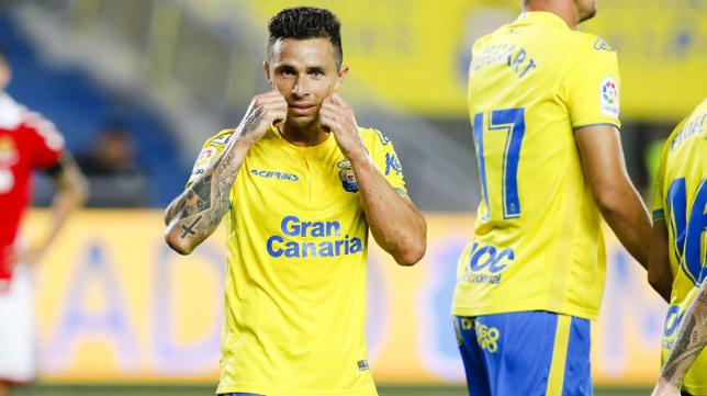 Rubén Castro, delantero de la UD Las Palmas.