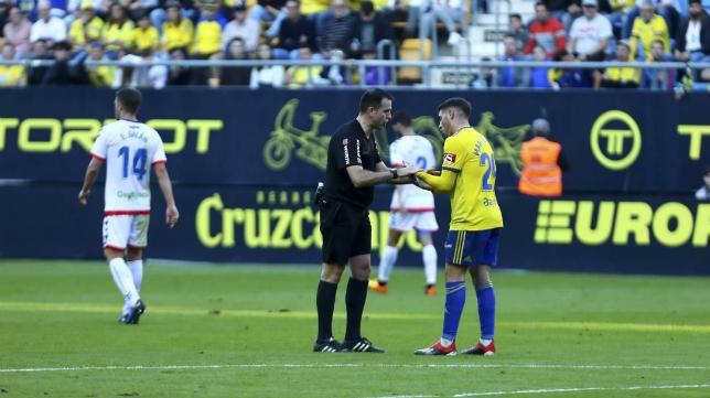 Ocón Arráiz ya arbitró el Cádiz CF-Rayo Majadahonda de la primera vuelta.