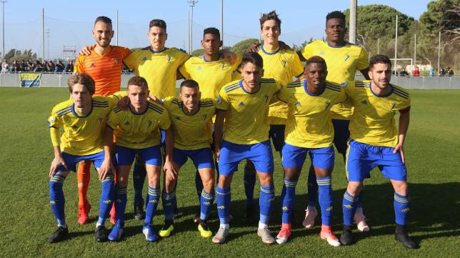 El Cádiz CF B ha llevado a cabo un excelente trabajo defensivo.