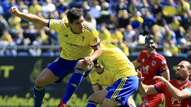 Garrido jugó su primer partido como titular tras su lesión.