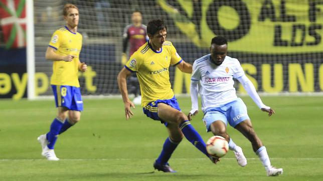 Lekic durante el último encuentro ante el Zaragoza.