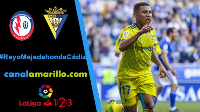 El Cádiz CF quiere seguir arriba a costa del Rayo Majadahonda