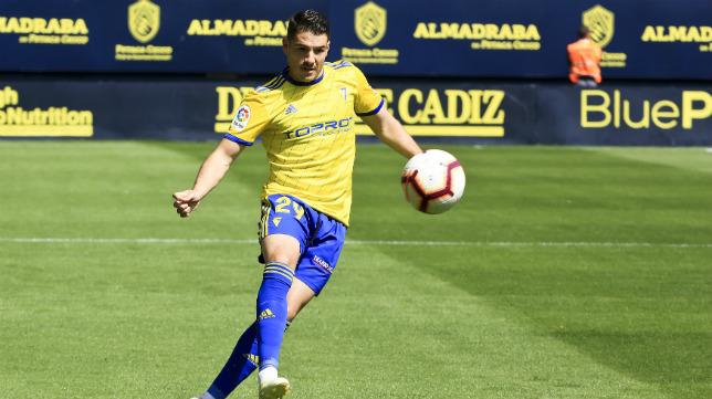 Manu Vallejo, en el partido del pasado domingo.