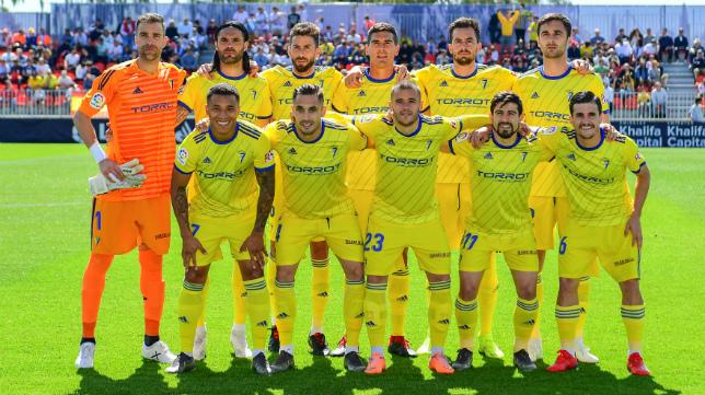 Once del Cádiz CF en el Cerro del Espino.