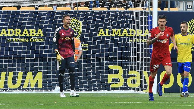 Cifuentes en el partido ante Osasuna.