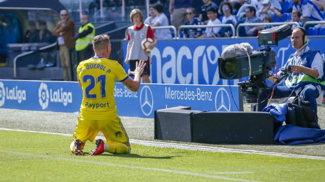 Querol marcó un gol de bandera en Riazor.
