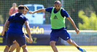 Fali, en un entrenamiento con el Cádiz CF