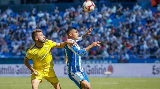 José Mari en el partido ante el Deportivo en Riazor.