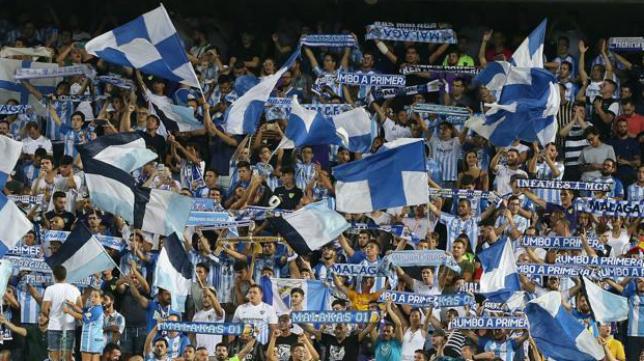 La afición del Málaga estará en el Estadio Ramón de Carranza.