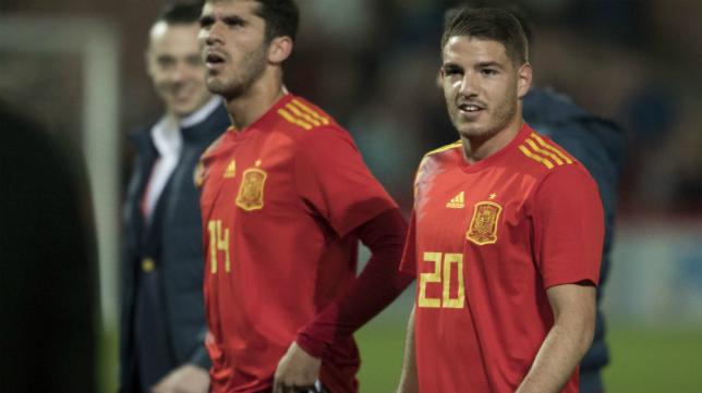 Manu Vallejo, con la sub'21.