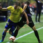 Mario Barco recuerda su encuentro ante el Málaga al final de la temporada.
