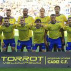 La alineación del Cádiz CF ante Osasuna en Carranza.
