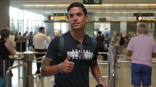 Renato Santos, jugador del Málaga. Foto: Sur.