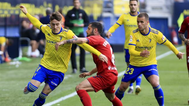 Salvi volvió a jugar tras su lesión.