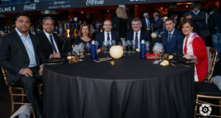 Manuel Vizcaíno comparte mesa y mantel con Ronaldo, José Castro y Delfí Geli, entre otros. Foto LaLiga.
