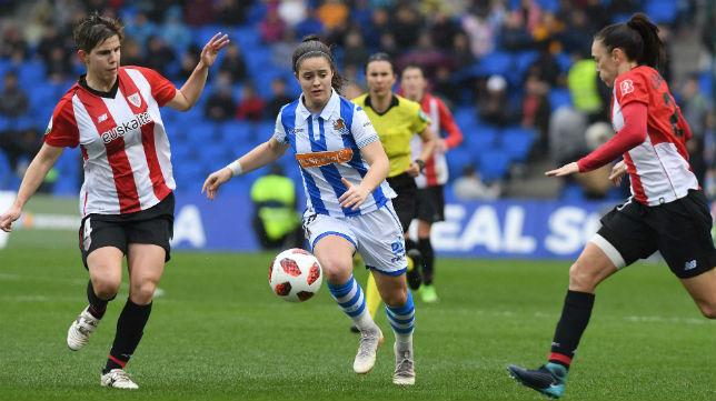 Partido de fútbol femenino entre Real Sociedad y Athletic de Bilbao