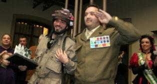 Los cuarteteros reciben un premio con su obra 'Pal desembarco nosmardía' de 2008.