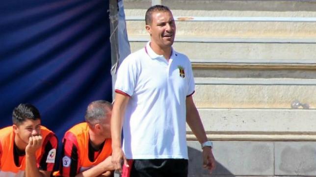 Jero Santana, entrenador del Unión Viera. Foto: Unión Viera.
