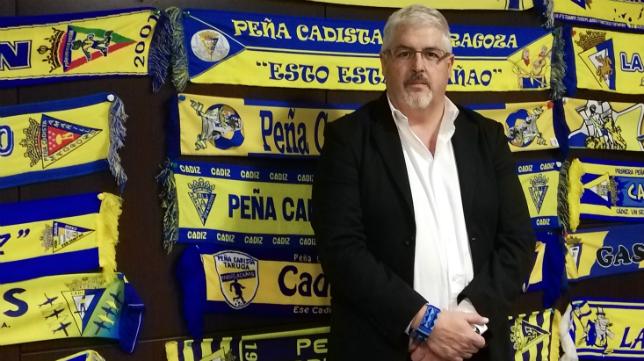 Juan Antonio Rodríguez, presidente de la Federación de Peñas del Cádiz CF. Foto: FPC.