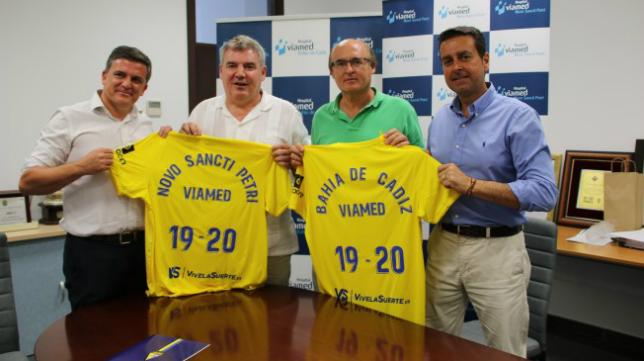 El Cádiz CF y Viamed renuevan su acuerdo. Foto: Cádiz CF.