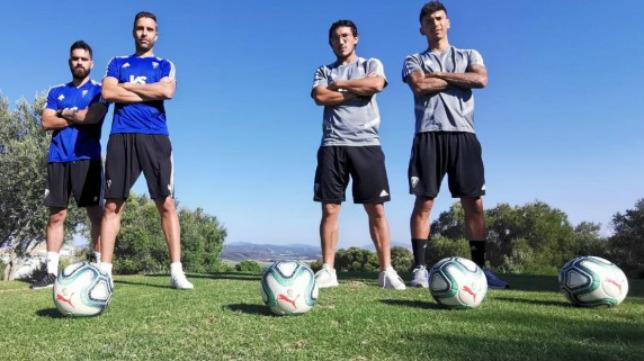 Alberto Cifuentes, David Gil, Jean-Pierre Rhyner y 'Pacha' Espino.