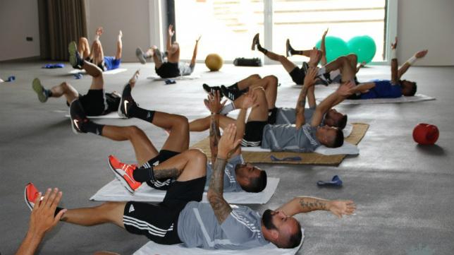 El Cádiz CF ha comenzado la semana en el gimnasio.