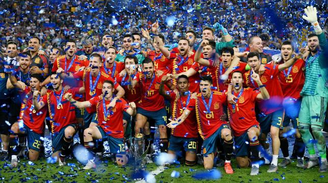 España Sub 21, campeona de Europa con Manu Vallejo en sus filas.