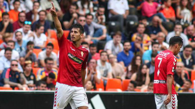 Armando Ortiz, centrocampista del Real Murcia. Foto: La Verdad.