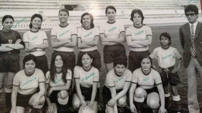 El equipo femenino del Balón de Cádiz hizo historia en 1970. Foto: Ayuntamiento Cádiz.