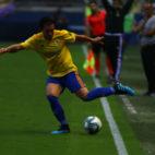 'Pacha' Espino en un partido con el Cádiz