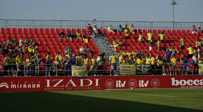 Los aficionados del Cádiz en Anduva