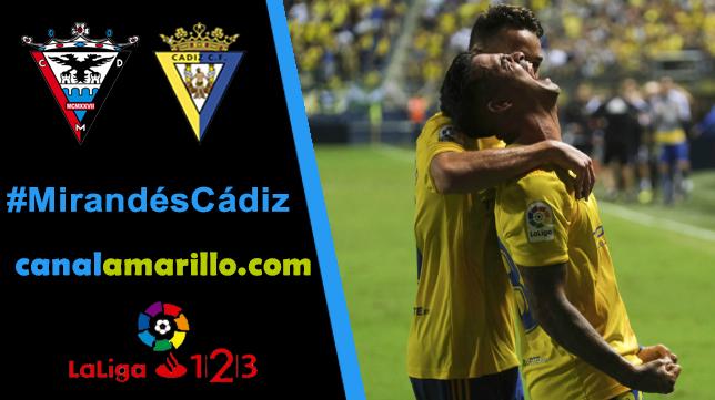 Primera salida de un Cádiz que busca otra victoria en Miranda de Ebro