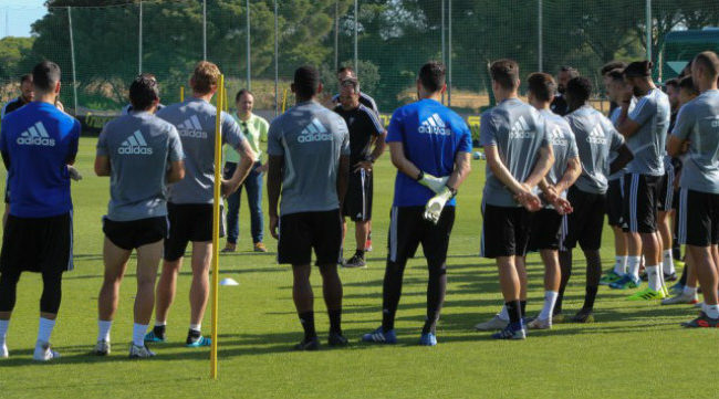 El Cádiz CF vuelve este martes a los entrenamientos en El Rosal.