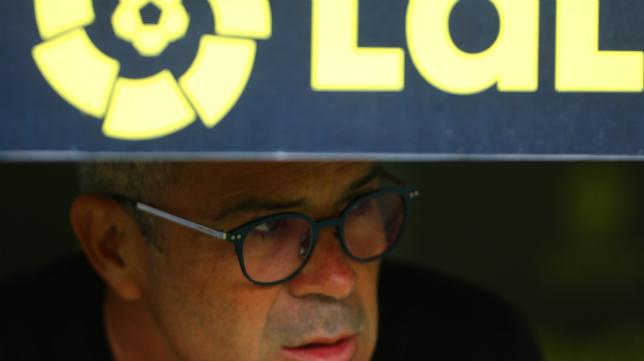 Álvaro Cervera, antes del encuentro ante el Deportivo.