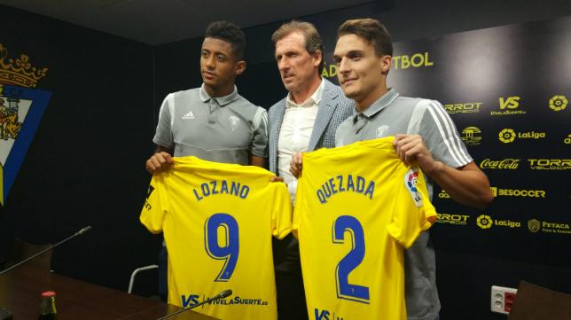 'Choco' Lozano y Luismi Quezada se presentaron este jueves en el Estadio Ramón de Carranza.