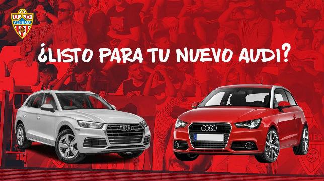 El Almería sortea coches en el descanso de los partidos