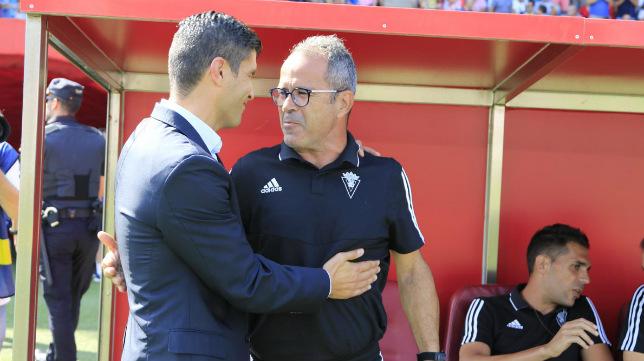 Emanuel y Cervera, antes del partido.