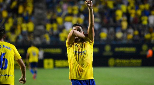 Garrido celebró su gol con el Cádiz (Foto: CCF)