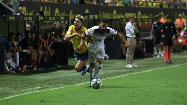 Iván Alejo debutó en el Estadio Ramón de Carranza.