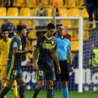 Sagués Oscoz expulsó a Yann Bodiger en Alcorcón.